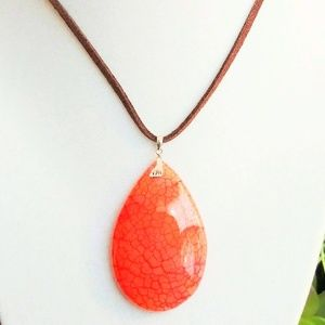 Jewelry - Dragon's Vein Agate Pendent